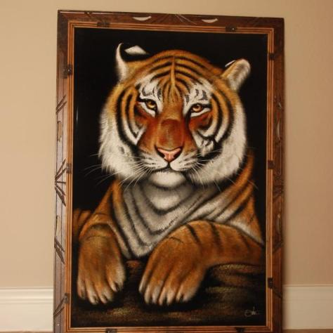 black velvet painting_tiger_no CR notation found
